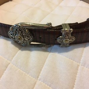 Brighton leather (faux croc design) Belt